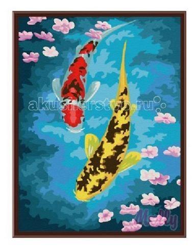 Раскраска Molly Картина по номерам Карпы кои 30х40 см