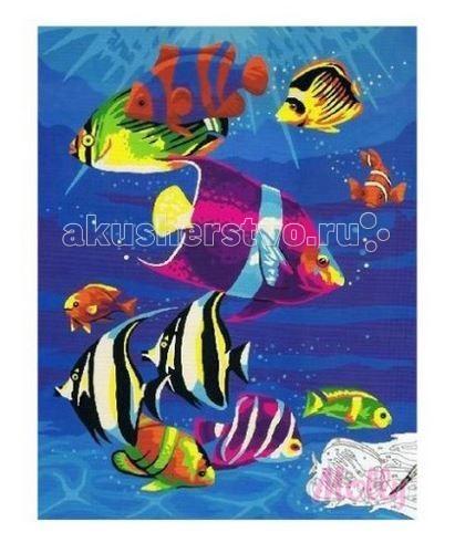 Molly Картина по номерам Подводный мир 30х40 смКартина по номерам Подводный мир 30х40 смКартина по номерам Molly Подводный мир - оригинальный набор, позволяющий создать картину, благодаря поэтапной раскраске полотна.   В наборе:    холст из натурального хлопка на деревянном подрамнике (холст предварительно прогрунтован);  нейлоновые кисти разного размера 3 шт.;  акриловые краски (устойчивые к выцветанию);  крепление на стену;  акриловый лак (2 баночки).   Размер: 30 х 40 см Количество цветов: 17 Уровень сложности: средний  Защитить готовую картину от воздействия ультрафиолетовых лучей и влаги поможет акриловый лак в наборе. Перед использованием его необходимо разбавить водой в соотношении 1:1. Лак следует наносить на краску в качестве финишного покрытия.<br>