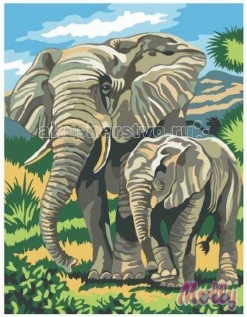Molly Картина по номерам Слоны на прогулке 30х40 смКартина по номерам Слоны на прогулке 30х40 смКартина по номерам Molly Слоны на прогулке - оригинальный набор, позволяющий создать картину, благодаря поэтапной раскраске полотна.   В наборе:    холст из натурального хлопка на деревянном подрамнике (холст предварительно прогрунтован);  нейлоновые кисти разного размера 3 шт.;  акриловые краски (устойчивые к выцветанию);  крепление на стену;  акриловый лак (2 баночки).   Размер: 30 х 40 см Количество цветов: 19 Уровень сложности: трудный  Защитить готовую картину от воздействия ультрафиолетовых лучей и влаги поможет акриловый лак в наборе. Перед использованием его необходимо разбавить водой в соотношении 1:1. Лак следует наносить на краску в качестве финишного покрытия.<br>