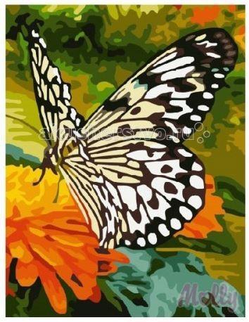 Molly Картина по номерам Бабочка 30х40 смКартина по номерам Бабочка 30х40 смКартина по номерам Molly Бабочка - оригинальный набор, позволяющий создать картину, благодаря поэтапной раскраске полотна.   В наборе:    холст из натурального хлопка на деревянном подрамнике (холст предварительно прогрунтован);  нейлоновые кисти разного размера 3 шт.;  акриловые краски (устойчивые к выцветанию);  крепление на стену;  акриловый лак (2 баночки).   Размер: 30 х 40 см Количество цветов: 21 Уровень сложности: средний  Защитить готовую картину от воздействия ультрафиолетовых лучей и влаги поможет акриловый лак в наборе. Перед использованием его необходимо разбавить водой в соотношении 1:1. Лак следует наносить на краску в качестве финишного покрытия.<br>