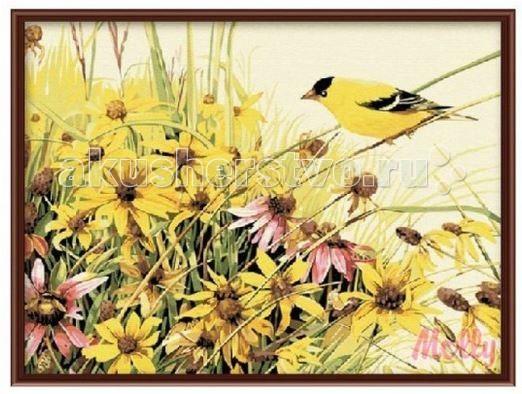 Раскраска Molly Картина по номерам Желтые цветы 40х50 см