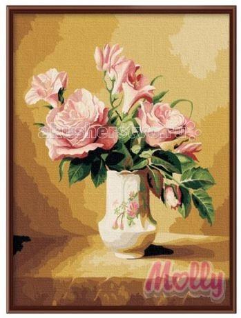 Molly Картина по номерам Нежность 40х50 смКартина по номерам Нежность 40х50 смКартина по номерам Molly Нежность - оригинальный набор, позволяющий создать картину, благодаря поэтапной раскраске полотна.   В наборе:    холст из натурального хлопка на деревянном подрамнике (холст предварительно прогрунтован);  нейлоновые кисти разного размера 3 шт.;  акриловые краски (устойчивые к выцветанию);  крепление на стену;  акриловый лак (2 баночки).   Размер: 40 х 50 см Количество цветов: 30 Уровень сложности: трудный  Защитить готовую картину от воздействия ультрафиолетовых лучей и влаги поможет акриловый лак в наборе. Перед использованием его необходимо разбавить водой в соотношении 1:1. Лак следует наносить на краску в качестве финишного покрытия.<br>