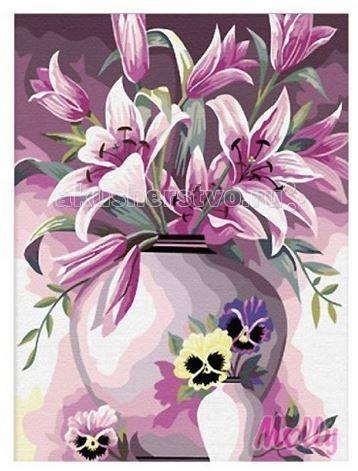 Molly Картина по номерам Элегантные лилии 40х50 смКартина по номерам Элегантные лилии 40х50 смКартина по номерам Molly Элегантные лилии - оригинальный набор, позволяющий создать картину, благодаря поэтапной раскраске полотна.   В наборе:    холст из натурального хлопка на деревянном подрамнике (холст предварительно прогрунтован);  нейлоновые кисти разного размера 3 шт.;  акриловые краски (устойчивые к выцветанию);  крепление на стену;  акриловый лак (2 баночки).   Размер: 40 х 50 см Количество цветов: 25 Уровень сложности: сложный  Защитить готовую картину от воздействия ультрафиолетовых лучей и влаги поможет акриловый лак в наборе. Перед использованием его необходимо разбавить водой в соотношении 1:1. Лак следует наносить на краску в качестве финишного покрытия.<br>