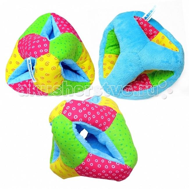 Развивающая игрушка Мякиши ВыкрутасыВыкрутасыРазвивающая игрушка Мякиши Выкрутасы - это самый первый мягкий тренажер для развития звукового, тактильного и цветового восприятия, для активных игр: размер удобный для руки ребенка; цветные грани и разнофактурные материалы; ребенок научится называть цвета и оттенки одного из них не только на неподвижной игрушке Выкрутасы, но и когда он находится в движении; игрушку можно боксировать руками и ногами (прекрасное упражнение для развития общей координации и снятия перевозбуждения и агрессии). При потряхивании игрушки раздается негромкий звук.   Ваш малыш обязательно полюбит игрушку, а игры с ней будут не только увлекательными, но и полезными для развития малыша. Порадуйте своего ребенка таким замечательным подарком  Особенности: Уникальный дизайн. Удачно подобранный размер, цвет, звук, яркие и понятные рисунки помогут всестороннему развитию ребенка. Приятная на ощупь игрушка. Развивает мелкую моторику рук, координацию движений, тактильные ощущения, слух, визуальное и сенсорное восприятие, воображение. Состоит из высококачественной ткани и мягкого наполнителя. Соответствует требованиям безопасности и стандартам качества продукции.  Материал: текстиль, хлопок, велюр Размеры: 18 x 18 см  Цвета в ассортименте<br>