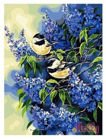 Раскраска Molly Картина по номерам Голубая сирень 40х50 см