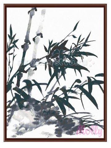 Molly Картина по номерам Ветки бамбука 40х50 смКартина по номерам Ветки бамбука 40х50 смКартина по номерам Molly Ветки бамбука - оригинальный набор, позволяющий создать картину, благодаря поэтапной раскраске полотна.   В наборе:    холст из натурального хлопка на деревянном подрамнике (холст предварительно прогрунтован);  нейлоновые кисти разного размера 3 шт.;  акриловые краски (устойчивые к выцветанию);  крепление на стену;  акриловый лак (2 баночки).   Размер: 40 х 50 см Количество цветов: 24 Уровень сложности: лёгкий  Защитить готовую картину от воздействия ультрафиолетовых лучей и влаги поможет акриловый лак в наборе. Перед использованием его необходимо разбавить водой в соотношении 1:1. Лак следует наносить на краску в качестве финишного покрытия.<br>