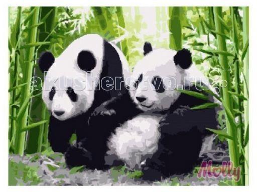 Раскраска Molly Картина по номерам Две панды 40х50 см