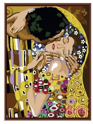 Molly Картина по номерам Поцелуй Климт 40х50 смКартина по номерам Поцелуй Климт 40х50 смКартина по номерам Molly Поцелуй Климт - аналог традиционной раскраски, но на холсте.  Соблюдая нумерацию отдельных сегментом картины, нужно разукрасить картину красками. Рекомендуется начинать с более светлых оттенков, постепенно переходя к более темным. Картины по номерам - интересное хобби и возможность почувствовать себя настоящим художником.    В наборе:    холст из натурального хлопка на деревянном подрамнике (холст предварительно прогрунтован);  нейлоновые кисти разного размера 3 шт.;  акриловые краски (устойчивые к выцветанию);  крепление на стену;  акриловый лак (2 баночки).   Размер: 40 х 50 см Количество цветов: 16 Уровень сложности: сложный  Защитить готовую картину от воздействия ультрафиолетовых лучей и влаги поможет акриловый лак в наборе. Перед использованием его необходимо разбавить водой в соотношении 1:1. Лак следует наносить на краску в качестве финишного покрытия.<br>