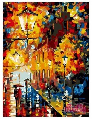 Molly Картина по номерам Осенние фонари 40х50 смКартина по номерам Осенние фонари 40х50 смКартина по номерам Molly Осенние фонари - аналог традиционной раскраски, но на холсте.  Соблюдая нумерацию отдельных сегментом картины, нужно разукрасить картину красками. Рекомендуется начинать с более светлых оттенков, постепенно переходя к более темным. Картины по номерам - интересное хобби и возможность почувствовать себя настоящим художником.    В наборе:    холст из натурального хлопка на деревянном подрамнике (холст предварительно прогрунтован);  нейлоновые кисти разного размера 3 шт.;  акриловые краски (устойчивые к выцветанию);  крепление на стену;  акриловый лак (2 баночки).   Размер: 40 х 50 см Количество цветов: 22 Уровень сложности: сложный  Защитить готовую картину от воздействия ультрафиолетовых лучей и влаги поможет акриловый лак в наборе. Перед использованием его необходимо разбавить водой в соотношении 1:1. Лак следует наносить на краску в качестве финишного покрытия.<br>