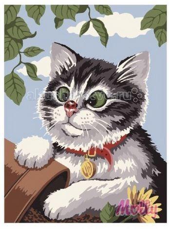 Molly Картина по номерам Любопытный кот 40х50 см