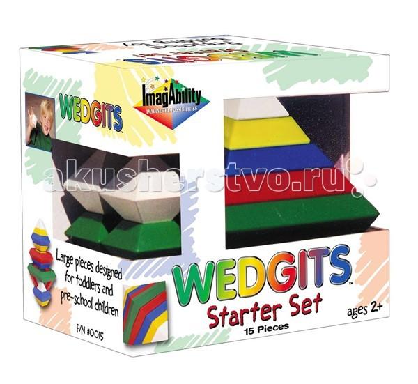 Конструктор Wedgits Starter 15 деталейStarter 15 деталейКонструктор Wedgits Starter 15 деталей - отличная игрушка не имеющая аналогов по стилю и дизайну. С помощью деталей получатся разнообразные пирамиды и конструкции из геометрических фигур, которые ребенок придумает и соберет самостоятельно.   Построить дети смогут все, что есть в подробной инструкции, либо все, что позволит фантазия: от простых абстрактных фигур до осознанных персонажей!   Это не просто увлекательный творческий процесс, но и отличное развивающее занятие, которое тренирует массу полезных интеллектуальных навыков ребенка: воображение, память, моторику рук, речь, ориентацию в трехмерном пространстве, координацию движений. Дети также могут запоминать цвета, названия и формы фигур.   В наборе 25 элементов: ромб - 1 большой зеленый 15 х 15 см, 2 красных 12.5 х 12.5 см, 3 синих 10 х 10 см, 4 желтых 7.5 х 7.5 см, 2 зеленых 5 х 5 см кристалл октаэдр - 3 больших 5 х 7 см буклет с моделями для сборки.<br>