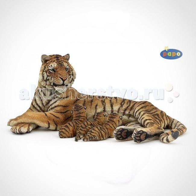 Papo Игровая реалистичная фигурка Тигрица лежащая с тигрятамиИгровая реалистичная фигурка Тигрица лежащая с тигрятамиИгровая реалистичная фигурка Тигрица лежащая с тигрятами 50156  Ручная роспись. Все фигурки Papo проходят тщательную подготовку и обработку, поэтому они крепкие и долговечные.  Материал: высококачественный полимерный материал.<br>