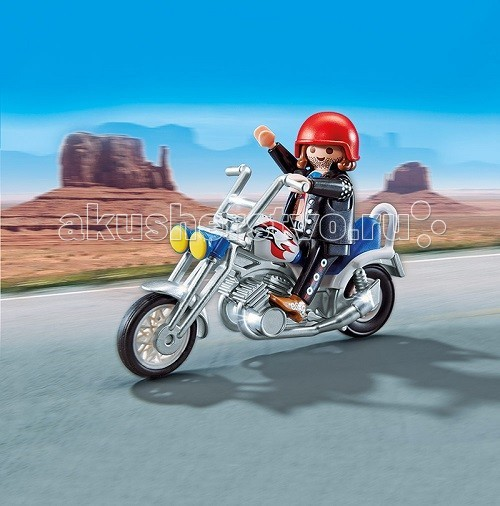 Конструктор Playmobil Коллекция мотоциклов: Мотоцикл орел