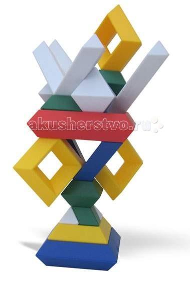 Конструктор Wedgits Imagination Set 25 деталейImagination Set 25 деталейКонструктор Wedgits Imagination Set 25 деталей - отличная игрушка не имеющая аналогов по стилю и дизайну. С помощью деталей получатся разнообразные пирамиды и конструкции из геометрических фигур, которые ребенок придумает и соберет самостоятельно.   Построить дети смогут все, что есть в подробной инструкции, либо все, что позволит фантазия: от простых абстрактных фигур до осознанных персонажей!   Это не просто увлекательный творческий процесс, но и отличное развивающее занятие, которое тренирует массу полезных интеллектуальных навыков ребенка: воображение, память, моторику рук, речь, ориентацию в трехмерном пространстве, координацию движений. Дети также могут запоминать цвета, названия и формы фигур.   В наборе 25 элементов: ромбы - 1 красный 12.5 х 12.5 см, 2 синих 10 х 10 см, 4 желтых 7.5 х 7.5 см, 5 зеленых 5 х 5 см кристаллы октаэдр - 3 больших 5 х 7 см, 7 малых 3 х 2.5 см  палочки - 1 короткая 12.5 х 3 см, 1 длинная 15 х 3 см, 1 угловая 10 х 10 см буклет с примерами моделей для сборки.  Игрушка упакована в яркую картонную коробку, размер 31 х 26 х 7 см<br>