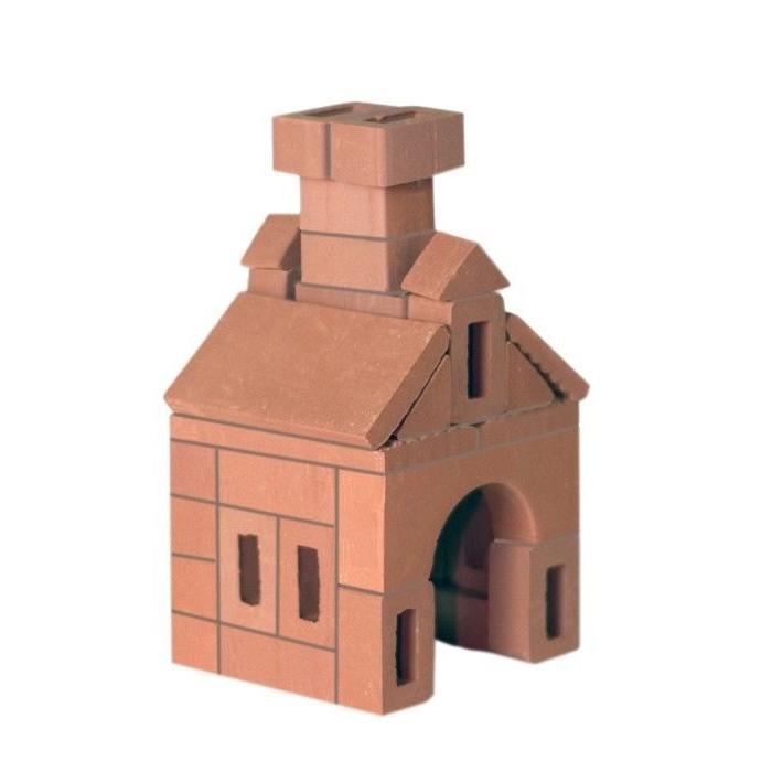 Конструктор Brickmaster Избушка 37 деталейИзбушка 37 деталейКонструктор Brickmaster Избушка 37 деталей - очень популярная новинка среди развивающих игрушек в последнее время.  Конструктор из настоящих кирпичиков прекрасно подойдет для юных строителей. Играя с этим набором малыш сможет почувствовать себя настоящим строителем и архитектором. Ведь ему предстоит строить из самых настоящих керамических кирпичиков и цемента.  Ваш малыш сможет соорудить из деталей симпатичную избушку, в которой поселятся игрушечные солдатики или куклы. Если ребенок захочет обновить постройку или создать другое здание, конструкцию нужно замочить в воде на несколько часов. Тогда цемент растворится в воде, а гладкие кирпичики Брикмастер снова будут готовы к использованию.  Играя с конструктором из настоящих кирпичиков и создавая интересные постройки, ребёнок развивает мелкую моторику рук, логическое мышление,творческие способности, внимательность и усидчивость. А также учится конструировать по схеме и составлять собственные проекты.  В набор входит: 37 маленьких кирпичиков, строительная смесь, маленький мастерок и подробная пошаговая инструкция.<br>