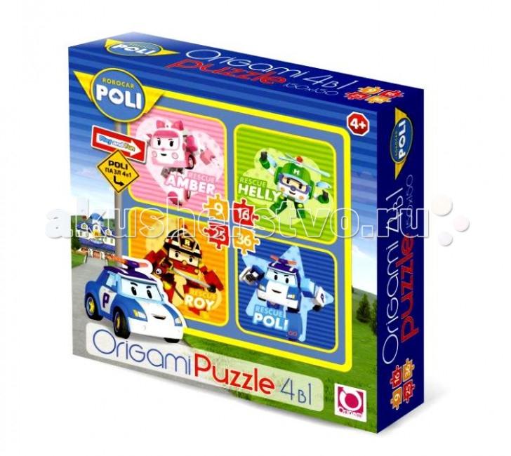Robocar Poli Пазл 4в1 00228-noПазл 4в1 00228-noRobocar Poli Пазл 4в1 — это набор из четырех разных пазлов, на каждом из которых изображен один из героев мультфильма «Робокар Поли и его друзья».   Все пазлы делятся по уровню сложности, который зависит от количества деталей в пазле.  В итоге ребенок получит 4 картинки, размером 15 х 15 сантиметров каждая.  Особенности:  Детали крупные, а пазловые замки легко соединяются.  Благодаря толщине изделия, такие элементы пазла приятно брать детской ручкой.  Собранная картинка-пазл не распадается – ею можно декорировать стену в детской комнате. Пазлы – первые игры-головоломки малышей. Такие игры развивают мелкую моторику, внимание, память. Учат усидчивости и терпению, понятиям часть и целое.<br>
