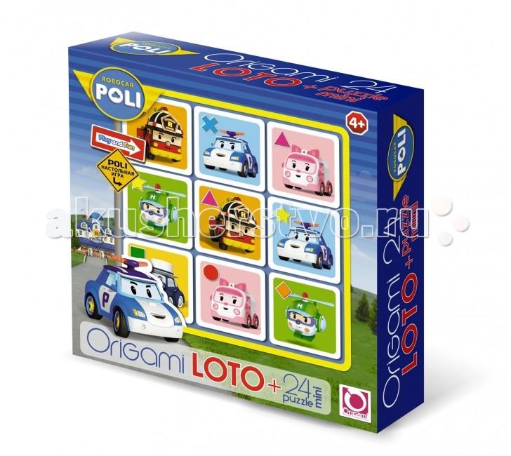 Robocar Poli Пазл ЛотоПазл ЛотоRobocar Poli Пазл Лото, созданное по мотивам мультсериала «Робокар Поли», отличается тем, что на его фишках изображены машинки-герои сериала.   Принцип игры в нем тот же, что и в обычном лото, а красочные детали с милыми персонажами сделают его привлекательным для детей.  В дополнение в наборе находится мини-пазл на 24 детали, сборка которого, как и сама игра в лото, будет по плечу детям, начиная с 4 лет.<br>