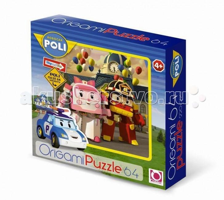 Origami Пазл 64А 05902Пазл 64А 05902Robocar Poli Пазл 64А 05902 - это красочная картинка, напечатанная на плотном картоне и разделенная на 64 детали.   Особенности: Во время сборки этой головоломки ребенок сможет натренировать важные навыки: логическое мышление, моторику пальцев, усидчивость и внимательность.  На получившемся изображении ребенок с большим удовольствием узнает героев своего любимого мультфильма – робокара Поли.  Качество печати и обработки деталей этого пазла - на высоте, он прослужит вам долгое время. Насыщенные цвета изображения радуют глаз в процессе решения этой головоломки.  Каждый из элементов имеет четкие края, поэтому детали плотно стыкуются между собой, не образуя трещин и пробелов.  Собранная картинка может стать ярким декором интерьера детской комнаты.<br>