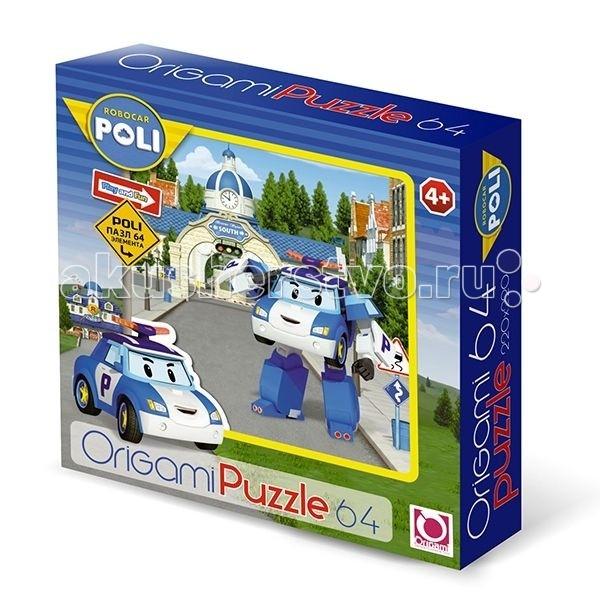 Origami Пазл 64А 05903Пазл 64А 05903Robocar Poli Пазл 64А 05903 - это красочная картинка, напечатанная на плотном картоне и разделенная на 64 детали.   Особенности: Во время сборки этой головоломки ребенок сможет натренировать важные навыки: логическое мышление, моторику пальцев, усидчивость и внимательность.  На получившемся изображении ребенок с большим удовольствием узнает героев своего любимого мультфильма – робокара Поли.  Качество печати и обработки деталей этого пазла - на высоте, он прослужит вам долгое время. Насыщенные цвета изображения радуют глаз в процессе решения этой головоломки.  Каждый из элементов имеет четкие края, поэтому детали плотно стыкуются между собой, не образуя трещин и пробелов.  Собранная картинка может стать ярким декором интерьера детской комнаты.<br>