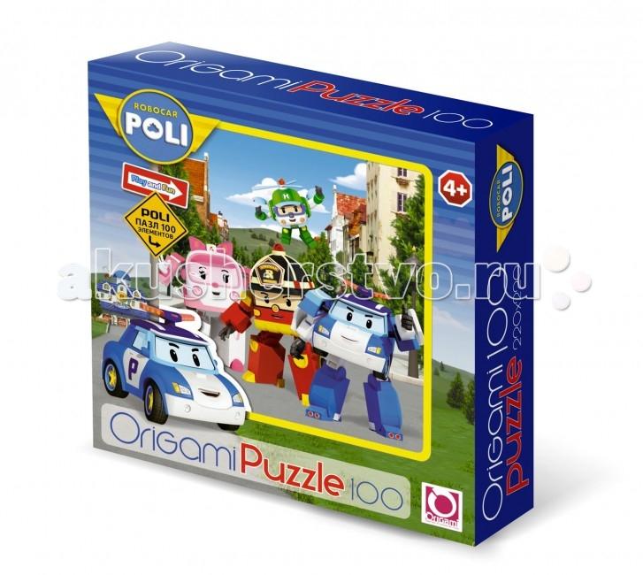Origami Пазл 100А 05899Пазл 100А 05899Robocar Poli Пазл 100А 05899 с изображением персонажей знаменитого корейского мультфильма.   100 деталей головоломки состоят из плотно спрессованного картона, поэтому пазл можно собирать и разбирать неоднократно, ведь его элементы не расслоятся и не погнутся.   Особенности: Во время сборки этой головоломки ребенок сможет натренировать важные навыки: логическое мышление, моторику пальцев, усидчивость и внимательность.  На получившемся изображении ребенок с большим удовольствием узнает героев своего любимого мультфильма – робокара Поли.  Качество печати и обработки деталей этого пазла - на высоте, он прослужит вам долгое время. Насыщенные цвета изображения радуют глаз в процессе решения этой головоломки.  Каждый из элементов имеет четкие края, поэтому детали плотно стыкуются между собой, не образуя трещин и пробелов.  Собранная картинка может стать ярким декором интерьера детской комнаты.<br>