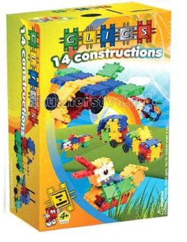 Конструктор Clics Набор 50 деталей, 14 конструкцийНабор 50 деталей, 14 конструкцийКонструктор Clics Набор 50 деталей, 14 конструкций - позволят детям всех возрастов строить устойчивые и прочные конструкции, используя свое воображение и фантазию: от космической ракеты до пиратского корабля, от маленькой птички до мощного слона, от маленького деревенского домика до современного небоскреба.  Детали конструктора, соединяясь между собой шарнирами, создают исключительно прочные, гибкие постройки любой величины и сложности.   С помощью только 50 деталей этого набора можно собрать 14 конструкций: самолет, вертолет, снегокат, несколько моделей машинок с прицепом и без и даже разных животных.<br>