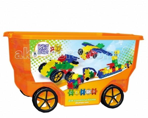 Конструктор Clics Развивающий 400 деталей на колесах 3D rollerboxРазвивающий 400 деталей на колесах 3D rollerboxКонструктор Clics Развивающий 400 деталей на колесах 3D rollerbox - содержит 400 элелементов в классической расцветке: зеленые, желтые, синие, красные.  Большие колеса можно снять с коробки и использовать в машинках.  Количество деталей достаточно для построения самых разнообразных построек и конструкций.  Детский конструктор Кликс состоит из множества разноцветных квадратиков с характерным видом соединения Защелка. Квадратики крепко удерживаются друг за друга, сохраняя при этом подвижность в узле сцепки. Это позволяет ребенку строить из CLICS бесконечное множество конструкций: как простые машинки и животные, так и сложные объекты, включая крейсеры и космодромы.  Clics - Бельгийский конструктор, изготовленный из высококачественного прочного гигиенического пластика. Его детали-элементы - безопасны, прослужат очень долго и с легкостью выдержат игры детей.  Конструктором с большим удовольствием играют как мальчики, так и девочки. Clics станет прекрасным подарком для ребенка, способствующим развитию фантазии, моторики, пространственного мышления и других важных навыков.  В наборе: 330 элементов CLICS, 8 пирамидок, 30 колес, 18 осей, 4 фаркопа, 4 элемента с глазами, 2 красных фонаря, 2 желтых фонаря, 2 трубы и подробная инструкция по сборке.<br>