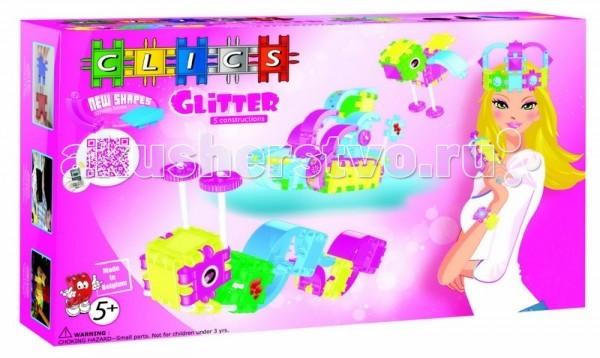 Конструктор Clics с блестками для девочек 100 деталейс блестками для девочек 100 деталейКонструктор Clics с блестками для девочек 100 деталей - станет чудесным подарком для такой юной леди. Детали CLICS ярких неоновых цветов с блестками - это новейшая разработка в области игрушек. Из набора можно построить 5 разных конструкций! Впервые набор содержит полукруглые детали!   CLICS - конструктор для девочек высшего качества из пищевого пропилена, который производится в Бельгии и пользуется все большей популярностью во всём мире.  В наборе: 74 элемента Clics, 26 аксессуаров, наклейки.<br>