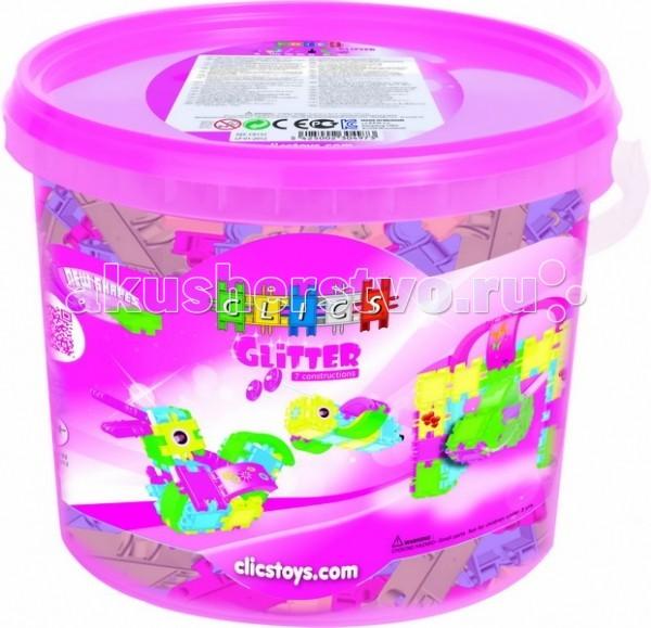 Конструктор Clics с блестками для девочек 165 деталейс блестками для девочек 165 деталейКонструктор Clics с блестками для девочек 165 деталей - состоит из множества ярких по цвету полукруглых деталей для сборки уникальных игрушек.  Красочные пластиковые детали - кликсы имеют надежные крепления, легко соединяются между собой, выдерживают многократную сборку-разборку и полностью совместимы с игровыми деталями других наборов от CLICS. При соединении деталей раздается негромкий звук клик, благодаря нему конструкторы и получили свое название. Собранные фигуры, игрушки и транспортные средства обладают оптимальной прочностью, максимальной возможностью к трансформации и не ломаются при падении или ударе.   Фантазия детей безгранична, и с помощью этого конструктора Ваш ребенок воплощает в жизнь самые необычные свои замыслы  Clics – уникальный конструктор из Бельгии, особенностью которого является необычное крепление строительных элементов между собой, что позволяет быстро создавать большие по площади и объему конструкции, при этом прочные и гибкие. CLICS - способствует развитию мелкой моторики, пространственного воображения, логики, математических навыков, стимулирует стремление к поиску решений задач.<br>
