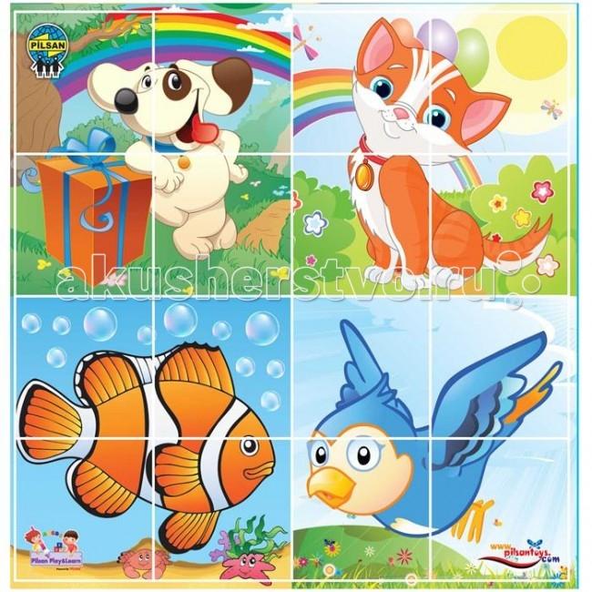 Pilsan Puzzle 4X4 AnimalsPuzzle 4X4 AnimalsЗабавный конструктор-пазл для детей от 2х лет.  Состоит из 16 элементов на 4 темы.  Набор изготовлен из экологически чистых материалов.   Среди огромного количества детских игрушек выгодно отличается продукция турецкой компании Pilsan, которая является лидером в производстве крупногабаритных игрушек для детей разных возрастов. Продукцию компании Pilsan характеризует высокое качество, недаром лозунг компании звучит как «Quality in Toys» - «Качество в игрушках». Продуманный дизайн, тестирование, обеспечение контроля на всех стадиях производства подтверждает слоган компании. Все игрушки, производимые компанией Pilsan, отличаются высоким качеством, безопасны, не содержат вредных материалов и красителей, для производства используется экологически чистый пластик.<br>