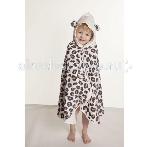 CuddleDry Накидка с капюшоном для малышей Снежный барс