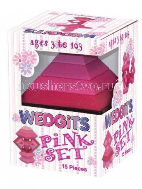 Конструктор Wedgits Pink Set 15 деталей + подставка