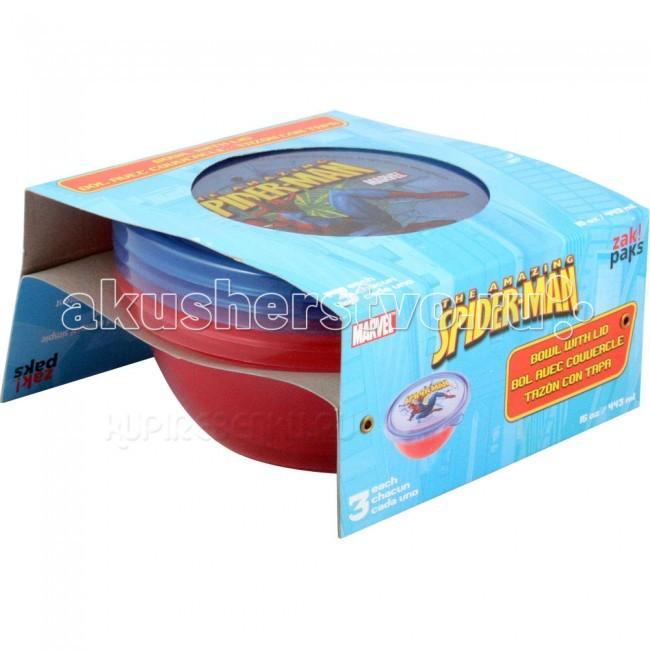 Zak! Набор круглых контейнеров Спайдермен 3 шт.