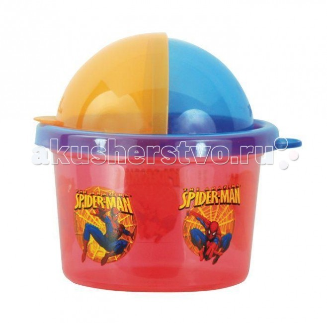 Zak! Набор контейнеров-полусфера Спайдермен 3 шт.