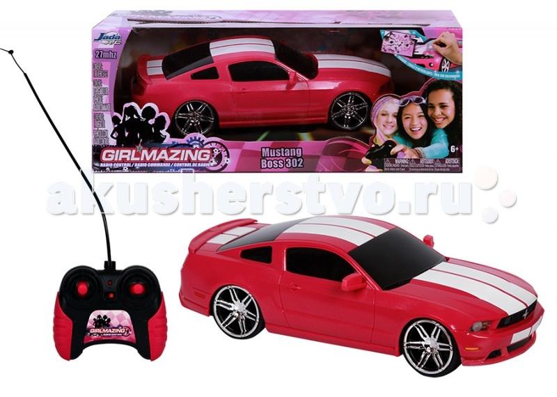 Jada Радиоуправляемая машинка Ford Mustang Boss 302Радиоуправляемая машинка Ford Mustang Boss 302Jada Радиоуправляемая машинка Lamborghini Murcielago 1:16  Особенности: Независимая передняя подвеска, задний привод.  В наборе: модель машинки, пульт р/у, комплект наклеек для тюнинга.  Игрушка для детей от 6 лет.  Масштаб модели 1:16.  Батарейки: для пульта 1 батарейка типа 9V, для машинки 3 батарейки типа АА. В комплект не входят.<br>