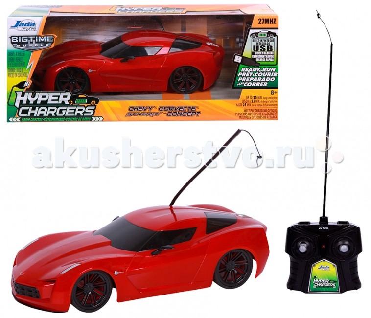 Jada Радиоуправляемая машинка Corvette StingRay Concep 1:16Радиоуправляемая машинка Corvette StingRay Concep 1:16Jada Радиоуправляемая машинка Corvette StingRay Concep 1:16  Особенности: Независимая передняя подвеска, задний привод.  В наборе: модель машинки, пульт р/у, комплект наклеек для тюнинга.  Игрушка для детей от 6 лет.  Масштаб модели 1:16.  Батарейки: для пульта 1 батарейка типа 9V, для машинки 3 батарейки типа АА. В комплект не входят.<br>