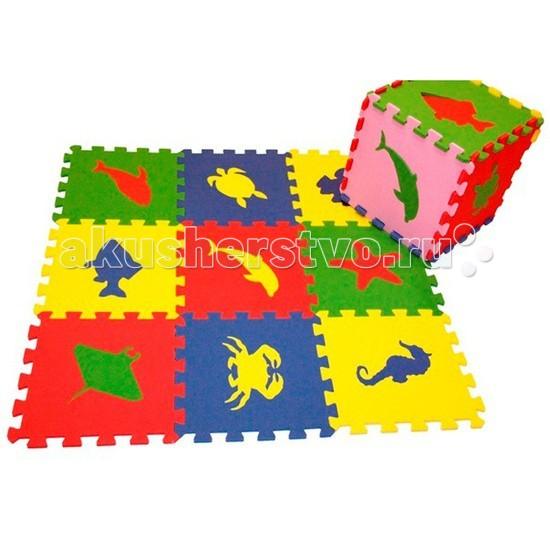Игровой коврик Экопромторг Морские Животные 33х33 см
