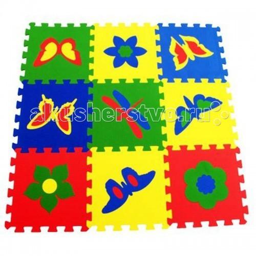 Игровой коврик Экопромторг Бабочки 99х99 см