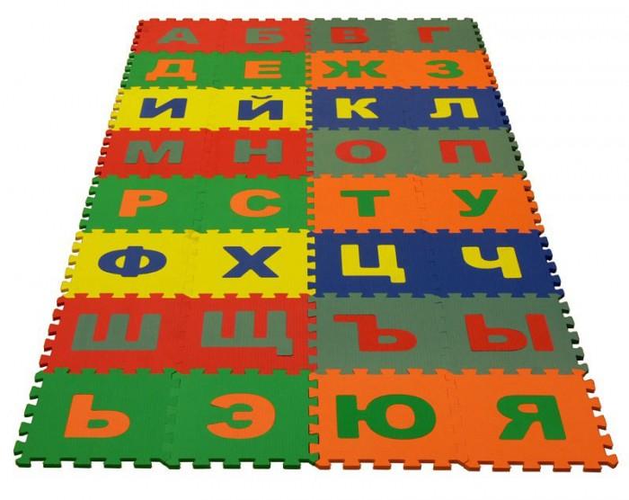 Игровой коврик Экопромторг Русский Алфавит 25х25 см