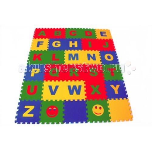 Игровой коврик Экопромторг Английский Алфавит 25х25 см