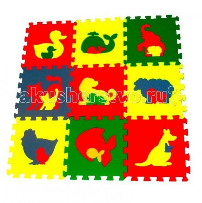 Игровой коврик Экопромторг Животные 33х33 см