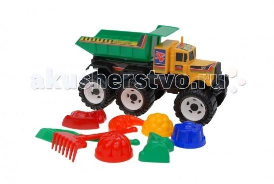 Каролина-М Детский автомобиль Мега с песочным набором