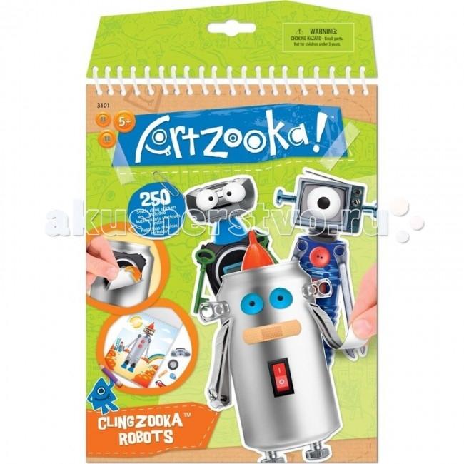 Wooky Artzooka Набор Забавные роботыArtzooka Набор Забавные роботыArtzooka 3101 забавные роботы.  Добро пожаловать в мир Artzooka! Это волшебное место, где дети смогут создать самые невероятные творения. Все что им понадобится – это фантазия и, конечно, немного магии Artzooka! Благодаря креативным играм, линейка Artzooka! станет неиссякаемым источником вдохновения для детей от 5 лет, позволяющим стимулировать воображение и образное восприятие. Наборы для творчества, развивающие книги и игры Artzooka! – все это целая вселенная, в которой увлекательная форма помогает малышам выработать художественное мышление.  Серия Artzooka! нацелена на развитие творческих способностей детей, когда даже самые неожиданные предметы – например, упаковка от игр Artzooka! – могут стать частью креативного проекта. Все зависит только от фантазии! В основе концепции Artzooka! лежит убеждение, что в каждом ребенке живет художник, что любой предмет может стать арт-объектом и что искусство - вокруг нас!  Вручите своему ребёнку радость и смех с новым набором для творчества ARTZOOKA! Забавные роботы. С помощью набора он сможет создать необычных роботов. Благодаря большому выбору забавных наклеек, ребёнок сможет проявить фантазию, творчески и весело провести время.  В набор входит: 10 листов с фоном 7 страниц с забавными наклейками 1 лист с многоразовыми наклейками Вдохновляющая инструкция.<br>