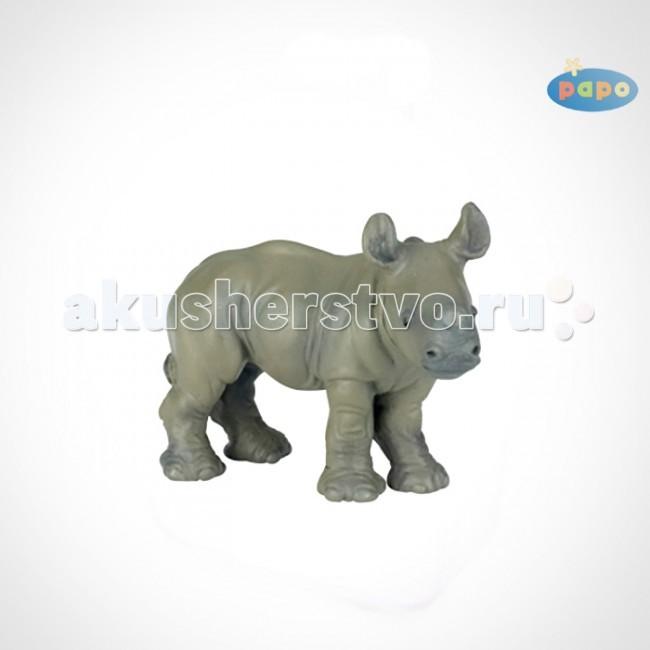 Papo Игровая реалистичная фигурка Детёныш носорогаИгровая реалистичная фигурка Детёныш носорогаИгровая реалистичная фигурка Детёныш носорога 50035  Ручная роспись. Все фигурки Papo проходят тщательную подготовку и обработку, поэтому они крепкие и долговечные.  Материал: высококачественный полимерный материал.<br>
