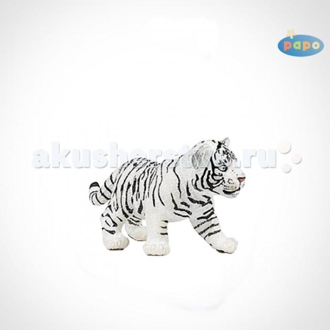 Papo Игровая реалистичная фигурка Детёныш белого тигра