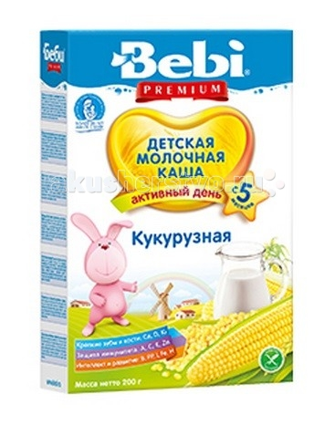 Bebi Молочная каша Premium Кукурузная с 5 мес. 200 г