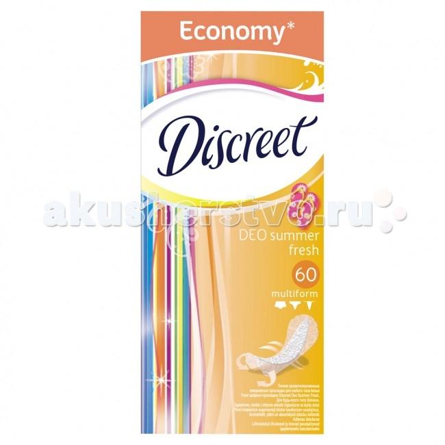 Discreet Женские гигиенические прокладки на каждый день Deo Summer Fresh Multiform Trio 60 шт.