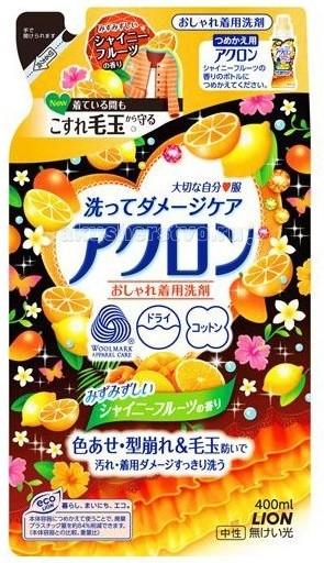 Lion Acron Средство для стирки деликатных тканей фруктовый аромат 400 мл