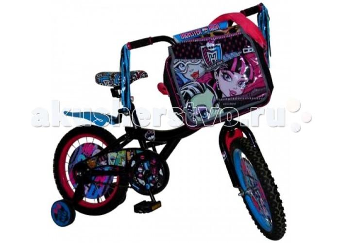 Велосипед двухколесный Navigator Monster High 16Monster High 16Велосипед Navigator Monster High 16 - это хорошо собранный и надёжный велосипед для ребёнка.   Особенности: Тип: детский Материал рамы: сталь Амортизация: отсутствует Конструкция вилки: жесткая Конструкция рулевой колонки: неинтегрированная, резьбовая Диаметр колес: 16 дюймов Материал обода: алюминиевый сплав Двойной обод: нет Материал бортировочного шнура: металл Возможность крепления боковых колес: есть Боковые колеса в комплекте: есть Тип переднего тормоза: отсутствует Тип заднего тормоза: ножной Уровень заднего тормоза: начальный Количество скоростей: 1 Уровень каретки: начальный Конструкция каретки: неинтегрированная Тип посадочной части вала каретки: квадрат Количество звезд в кассете: 1 Количество звезд системы: 1 Конструкция педалей: платформы Конструкция руля: изогнутый Настройка положения руля: регулируемый подъем Комплектация: багажник, крылья Материал рамки седла: сталь Комфорт: защита цепи<br>