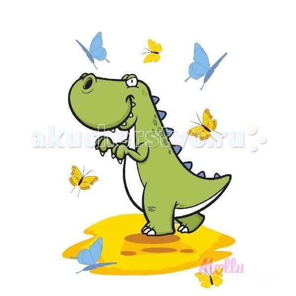 Раскраска Molly по номерам Динозаврик с бабочками 20х30 смпо номерам Динозаврик с бабочками 20х30 смРаскраска по номерам Molly Динозаврик с бабочками 20 см х 30 см - оригинальный набор, позволяющий создать картину, благодаря поэтапной раскраске полотна.   В наборе:    холст из натурального хлопка на деревянном подрамнике (холст предварительно прогрунтован)  нейлоновые кисти разного размера 3 шт.  акриловые краски (устойчивые к выцветанию)  крепление на стену  акриловый лак (2 баночки)  Размер: 20 х 30 см Количество цветов: 10 Уровень сложности: легкий  Защитить готовую картину от воздействия ультрафиолетовых лучей и влаги поможет акриловый лак в наборе. Перед использованием его необходимо разбавить водой в соотношении 1:1. Лак следует наносить на краску в качестве финишного покрытия.<br>