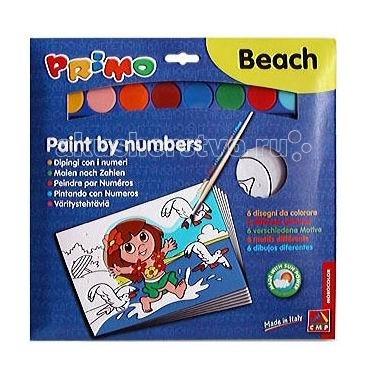 Раскраска Primo по номерам Пляж